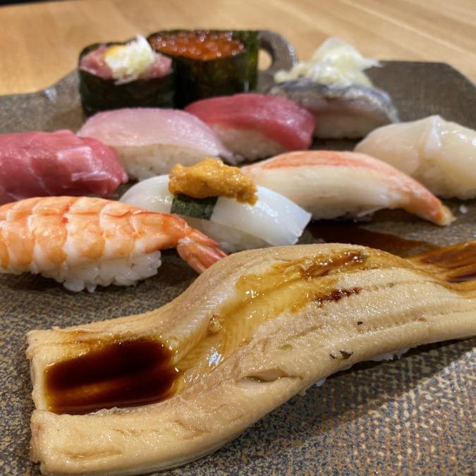 お寿司で一杯(^-^)