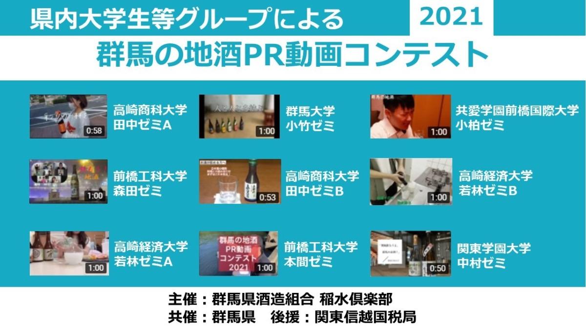 「群馬の地酒PR動画コンテスト2021」エントリー動画公開!